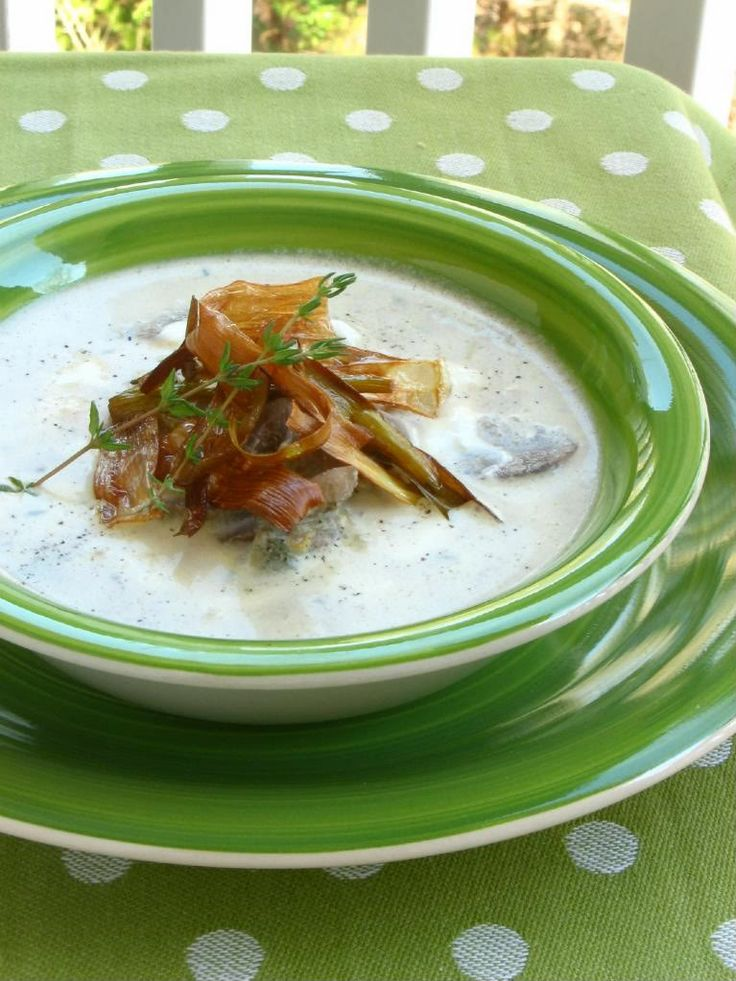 mushroom soup creamy mushrooms leek recipes coffee shops fresh thyme ...