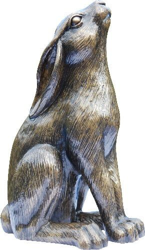 Moongazing Hare Golden Bronze Sculpture by PeakdaleSculptures, £13.95