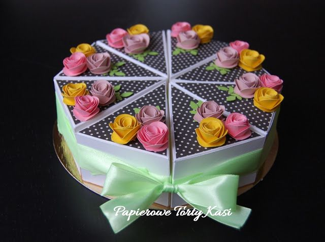 Cake slice box, Mother's day, paper cake, birthday cake