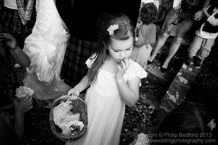 flower girl with the confetti basket