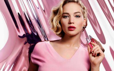 Jennifer Lawrence modeling for Dior Addict 2016 wallpaper