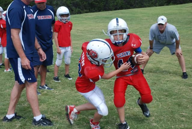 Five points of advice for youth football coaches. Keep it fun, keep it safe, teach the fundamentals, teach good sportsmanship, and build lasting relationships.