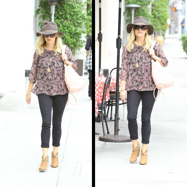 Resse Witherspoon with a Awesome Indiana Jones Knockoff Hat but Not The Best Choice In Jeans