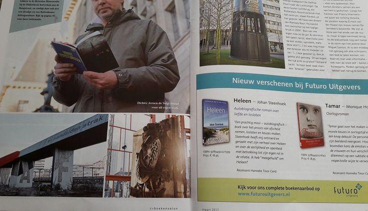 Mooi hoor: staan onze romans 'Heleen' van Johan Steenhoek en 'Tamar' van Monique Hoolt mooi in nieuwste printeditie van deBoekensalon. #heleen #johansteenhoek #tamar #moniquehoolt #deboekensalon #futurouitgevers
