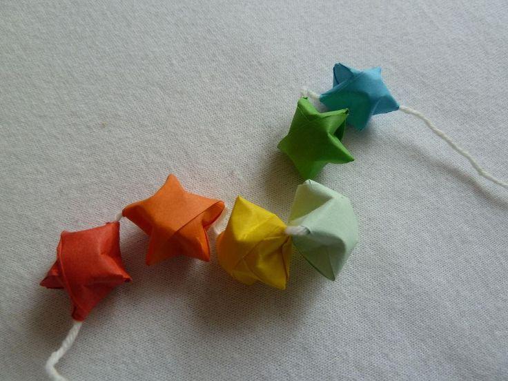 Diy origami diy origami lucky star beads diy origami for Diy lucky stars