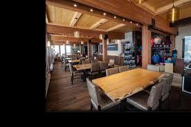 Beautiful Live Edge Dinner Tables   Mica Lodge  Mica Heli