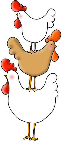 Hollywood Clip Art Chickens