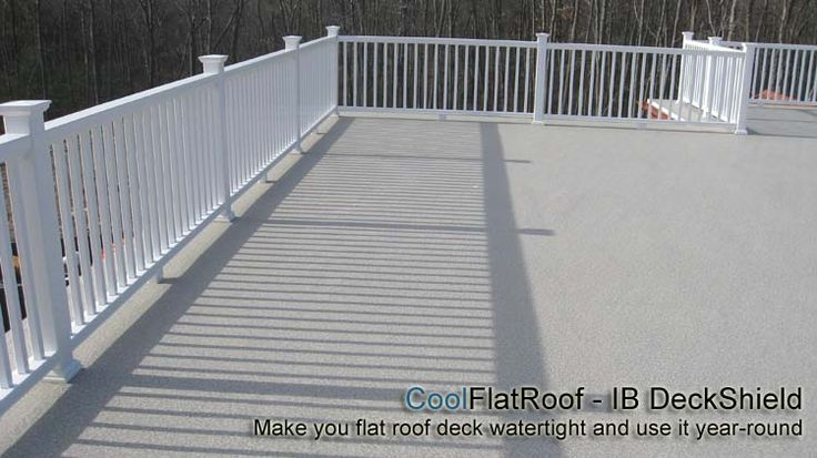 DeckShield will make your flat roof deck leak free, and you can finally enjoy it with family and friends.