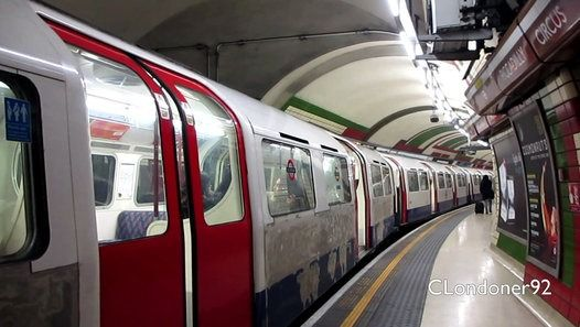 London Underground Bakerloo Line trains at Piccadilly Circus station Filmed on 23rd October 2015