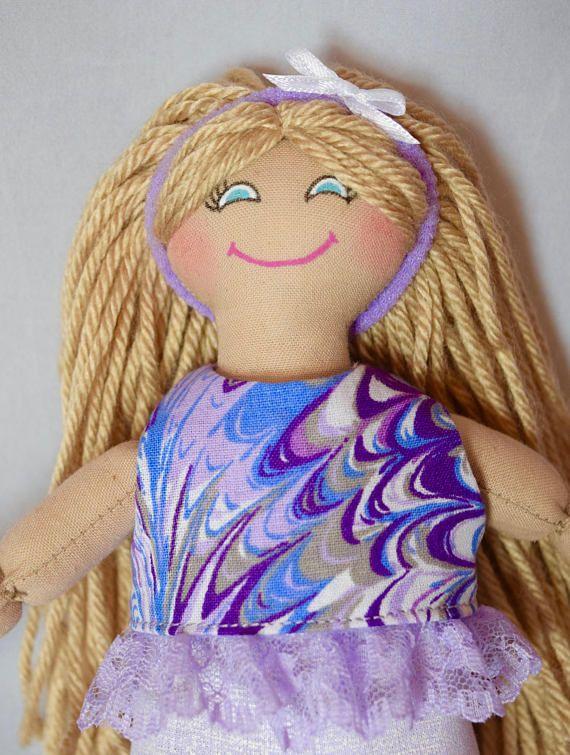 Toy Blonde Girl Doll  For Kids  Handmade