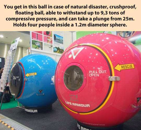 Amazing natural disaster protection ball…