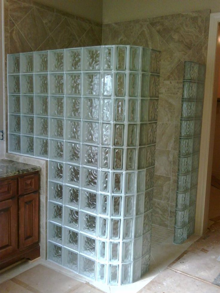 Best Bathrooms With Glass Block Images On Pinterest Glass - Glass block showers small bathrooms for bathroom decor ideas