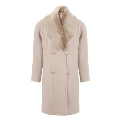 $99, Beige Fur Collar Coat: Jacques Vert Palomino Faux Fur Collar Coat. Sold by House of Fraser. Click for more info: http://lookastic.com/women/shop_items/106678/redirect