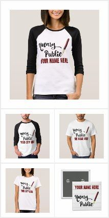 Notary Customizable Shirts, Hats, Totes, Buttons & More