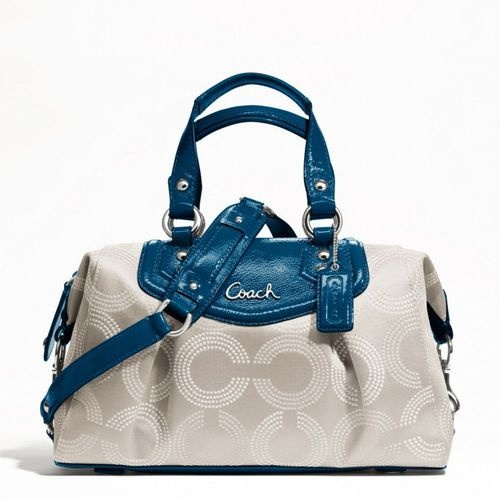 Coach  F20027 Ashley Dotted Bag is going up for auction at  4pm Mon, May 27 with a starting bid of $1.