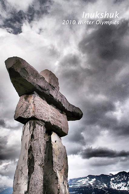 Inukshuk - Symbol of 2010 Winter Olympic Games, Whistler, BC Canada