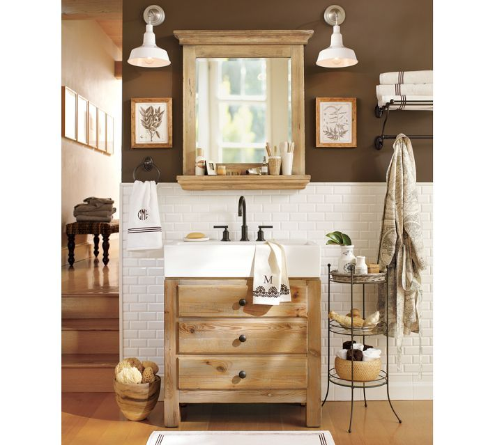Best Home Bathrooms Images On Pinterest Room Architecture - Pottery barn bathroom storage for bathroom decor ideas