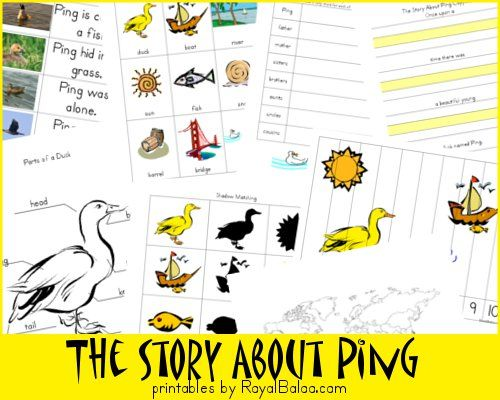 Free The Story About Ping Printable Set
