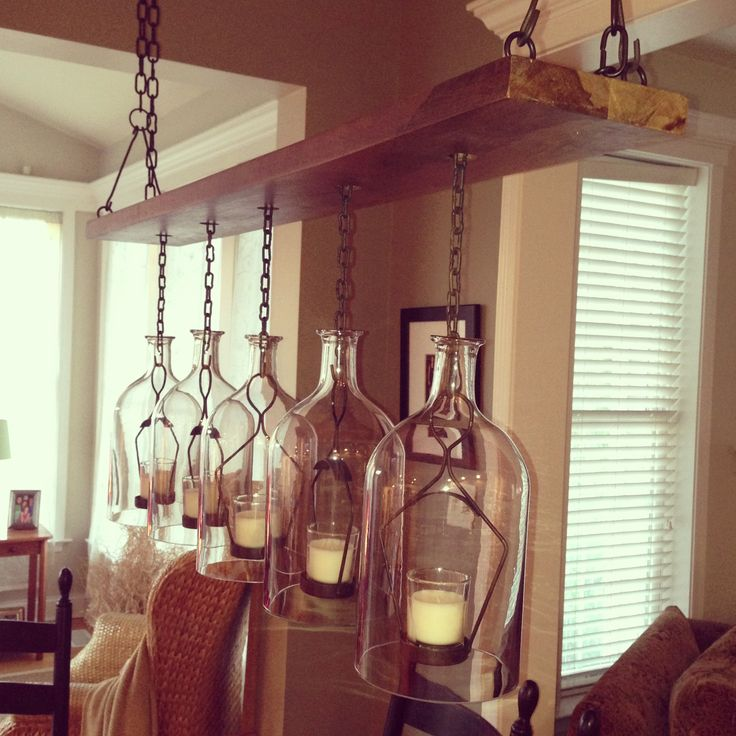 Candelier Over Our Reclaimed Farm Table In The Kitchen
