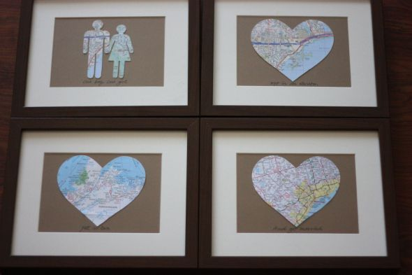 Wedding Anniversary Gift Ideas Diy : ... Ideas, Wedding Anniversary Gifts, Anniversary Diy, Gift Ideas, Maps