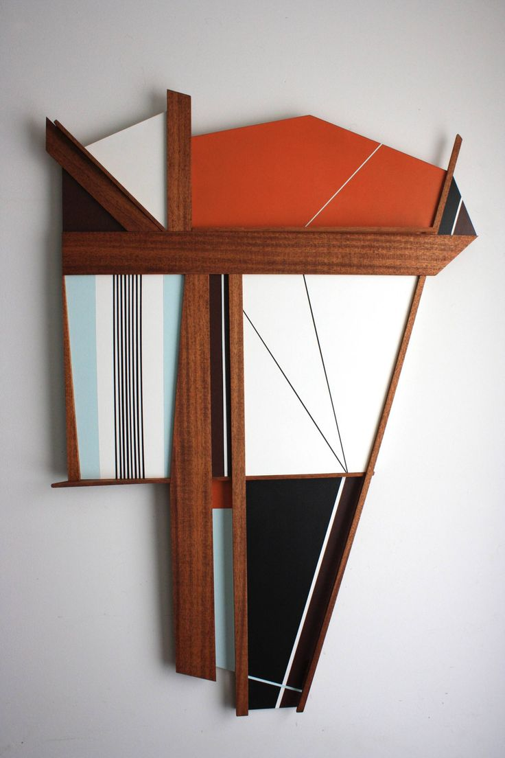 Buy Prints of Voyager 4, a Wood on Wood by Scott Troxel from United States. It portrays: Abstract, relevant to: black, blue, white, burgundy, Constructivism, wall sculpture, wood sculpture, Frank Stella, geometric, mid century modern, minimalism, orange Voyager4 is a large Mixed Media Wall Sculpture. It was constructed from 2 layers of MDF board with solid African mahogany, wood stain and acrylic paint. Voyager is at once retro and modern. Geometric lines and hard edge paint almost suggest…