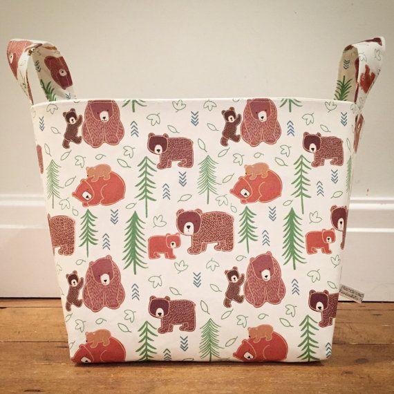 Stoff-Korb Großer Bär Little Bear Creme von TwinkleTwinkleBabies