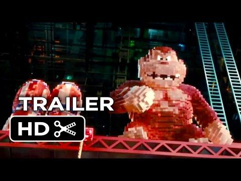 Pixels TRAILER 1 (2015) - Adam Sandler, Peter Dinklage Video Game Action Movie HD - YouTube