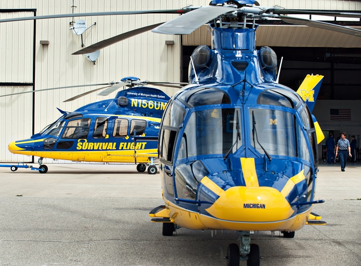 New state-of-the-art Survival Flight helicopters.