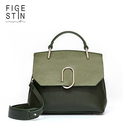 [EBay] Figestin Women Bags Designer Real Cow Leather Purple/Green/Khaki Panelled Cover Soft Luxury Shoulder Bags Handbag Evening Gift