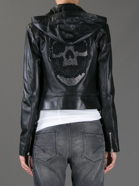Skull leather jacket ~ Philipp Plein