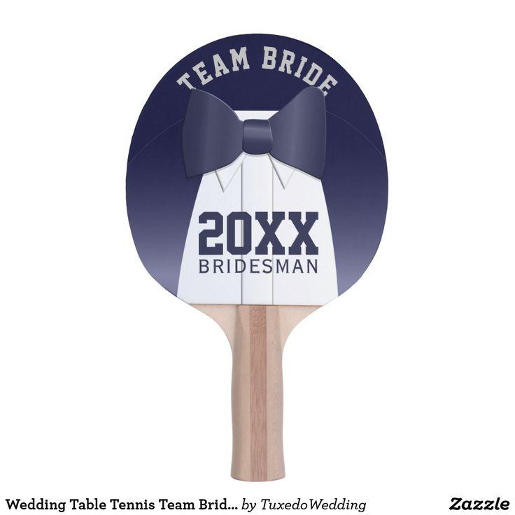 Wedding Table Tennis Team Bride Bridesman Ping Pong Paddle