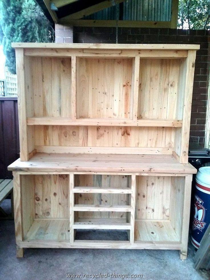 Diy Projects With Wooden Pallets Kitchen Hutchkitchen Furniturepallet