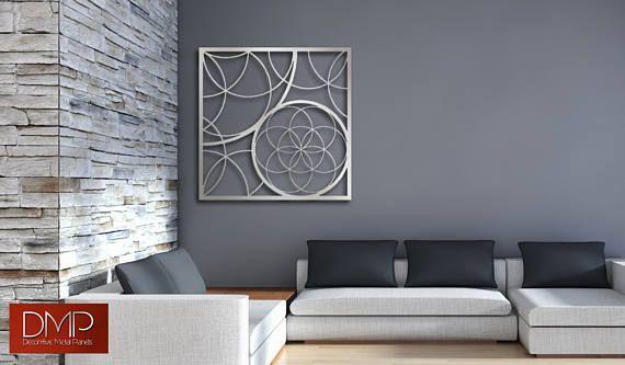 Escultura de arte Panel pared decorativa del Metal para el