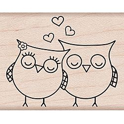 @Overstock.com - Hero Arts Heart Owls Wood Mounted Rubber Stamp  - Hero Arts wood mounted stamps are made with lightweight wood, foam and red rubber to give you a solid stamping performance. This stamp features a heart owls theme.  http://www.overstock.com/Crafts-Sewing/Hero-Arts-Heart-Owls-Wood-Mounted-Rubber-Stamp/5593053/product.html?CID=214117 $6.48