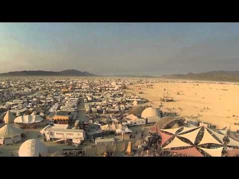 "Filmmaker Eddie Codel used a DJI Phantom drone and a GoPro Hero3 camera to shoot this ""Drone's eye view of Burning Man 2013″—the aerial footage provides a good sense of the sprawling scale of the festival. We recently wrote about Codel's drone's-eye view of San Francisco's Mission District."