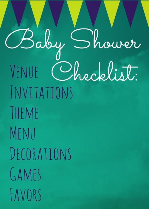 Baby Shower Checklist - Follow our handy tips and tricks on how to plan a baby shower to make through unharmed!