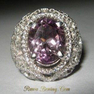 Ladies Amethyst Silver Ring 7.5US Model Filigree