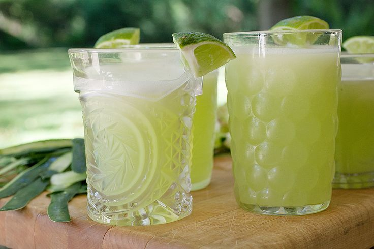 Agua Fresca, lime and Cucumber... a great non-alcoholic refreshment for the wedding dinner.