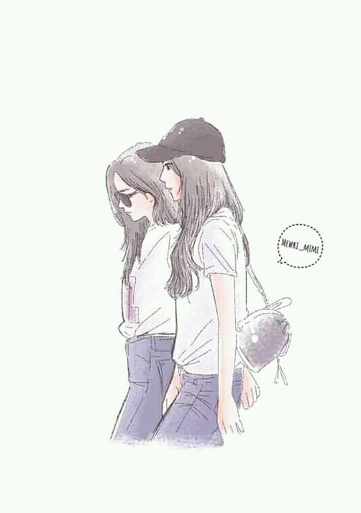Mentahan Cover Wattpad In 2020 Girls Cartoon Art Anime Best Friends Friend Anime