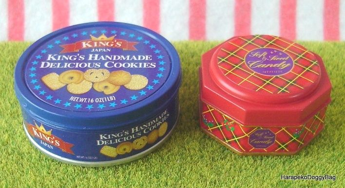 Re-ment / Rement : Japanese Dollhouse Toys : 3 o'clock Afternoon Snacks #4 : Miniature Danish Cookie Tin Cans & Biscuits
