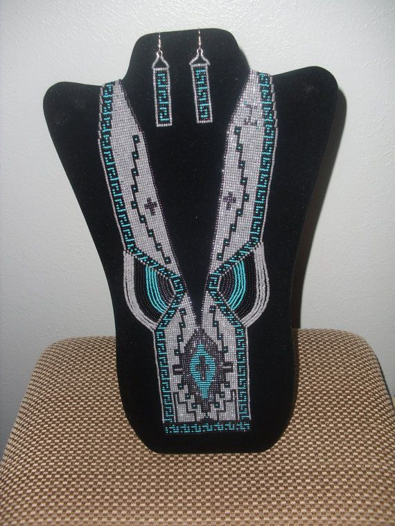 Loom Woven Necklace NO 029 by AZJOLEEBEADWEAVER on Etsy, $165.00