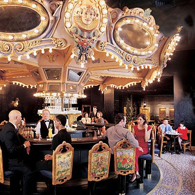 Revolving carousel bar in Hotel Monteleone, New Orleans.  Hotel is haunted.