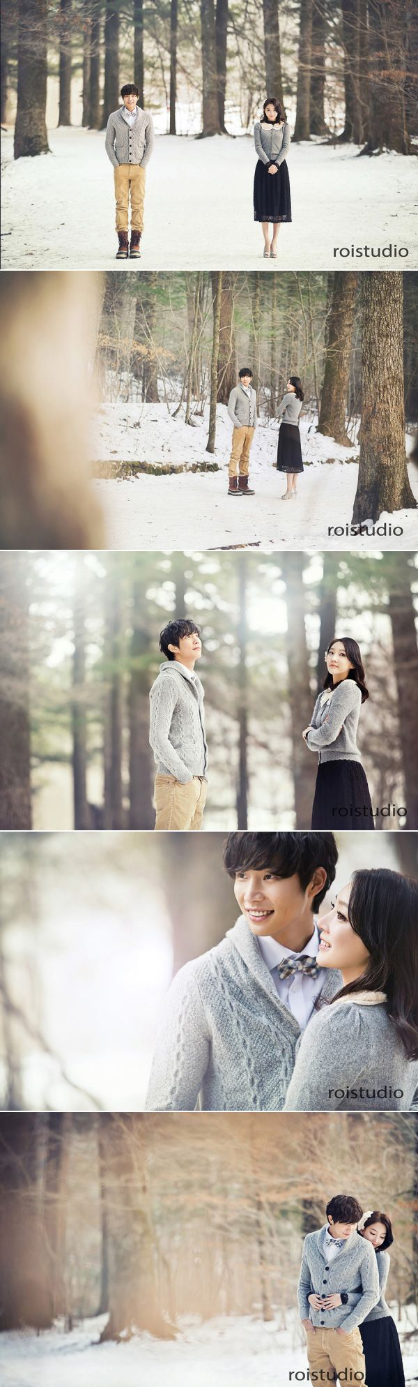 Forest winter Korean wedding photography by Roi Studio at Gangwon-do on OneThreeOneFour.com