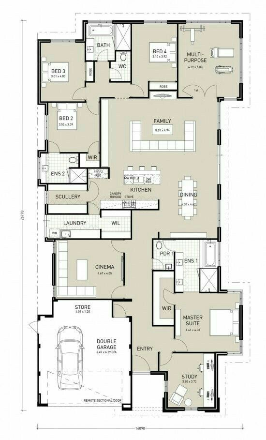 892 best idées maison images on Pinterest Blueprints for homes - plan architecturale de maison