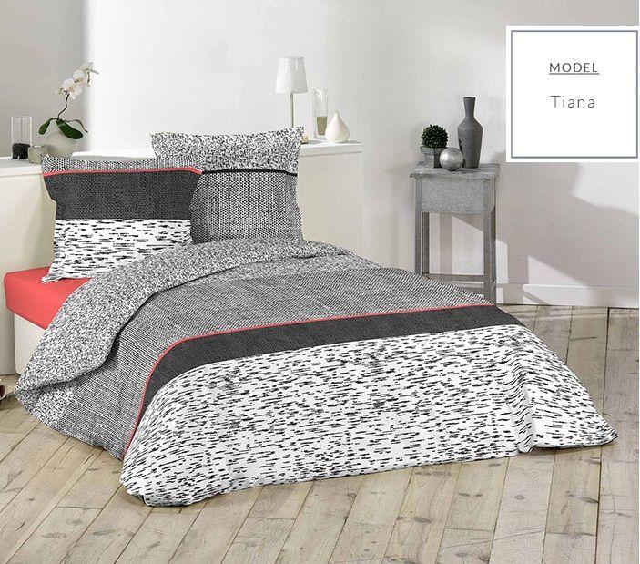 Sivé posteľné návliečky z bavlny