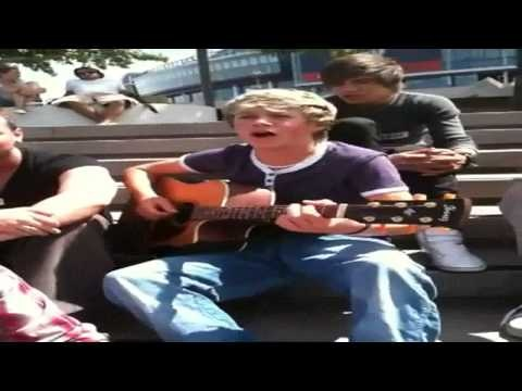 "Niall Horan singing ""Baby"" by Justin Bieber"