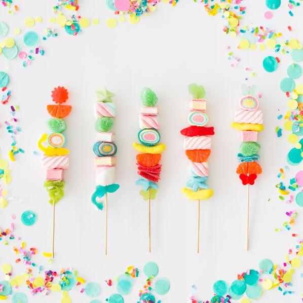 Candy Kabobs! Super cute.