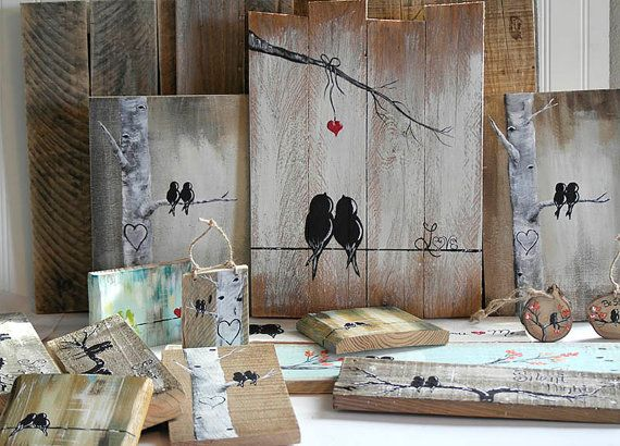 Rustic Wood Signs Reclaimed Wood Art 5th by LindaFehlenGallery