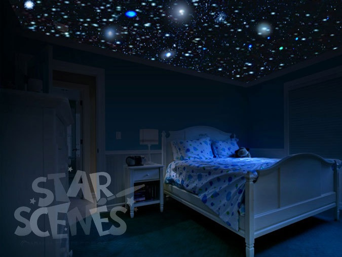 Kids Bedroom At Night 33 best space room images on pinterest | starry ceiling, bedroom