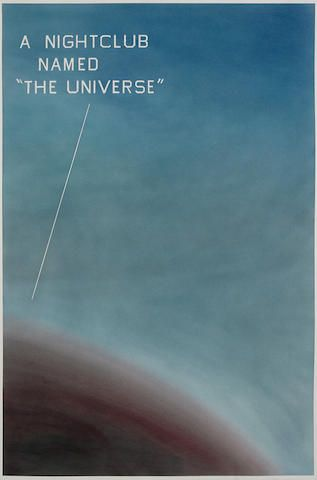 "ED RUSCHA  A Nightclub Named ""The Universe"", 1982  Post War and Contemporary Art sale, November 15, New York"